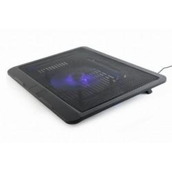 Notebookstandaard met koeling, zwart tot 15.6'' inch laptops